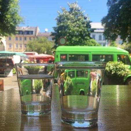 Beschwipster Blick auf den Offenbacher Wochenmarkt