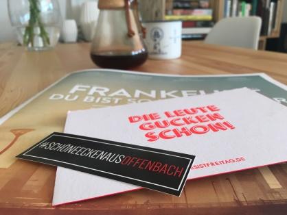 Frankfurt und Offenbach machen gemeinsame Sachen. Die Leute gucken schon!!