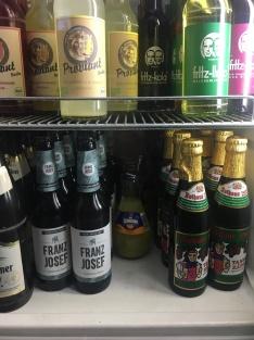 Die spritzige Getränkeauswahl. Direkt neben dem Kassenbereich zu finden.