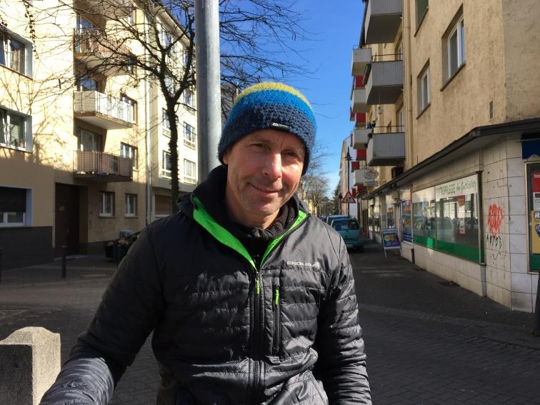 Andreas Desch in seinem Kiez. Sympathieträger und Original.