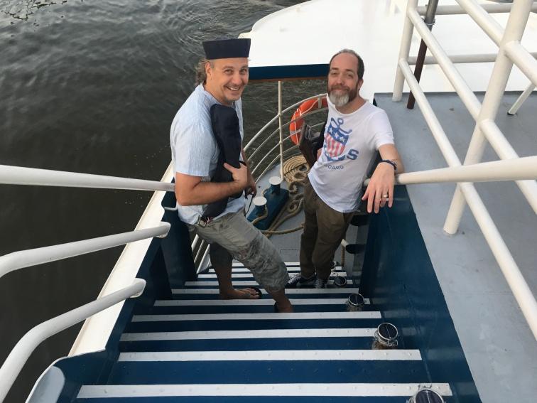 Gut aufgelegt, die beiden Gründungsmitglieder auf Dinner Cruise: Gunnar Ohlenschläger & Marco Sönke.