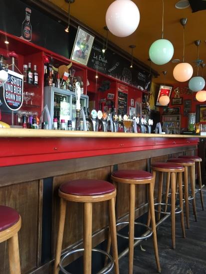 Die Bar im belgischen Bierhaus: Le Belge.