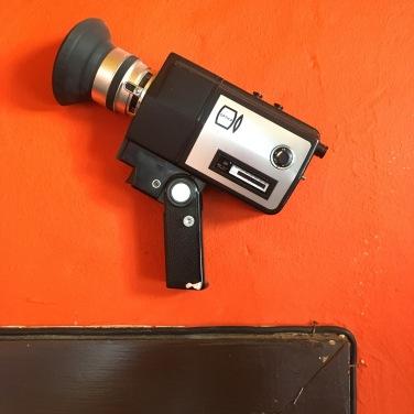 ... Videoüberwachung! Ein Camcorder aus alten Tagen.
