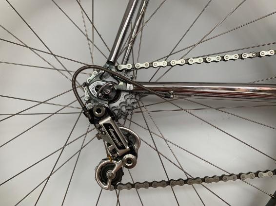 Von Schmutz und Rost befreit. Der Kettenkranz an Pascals Colnago Rennrad erstrahlt in seiner ganzen Pracht!