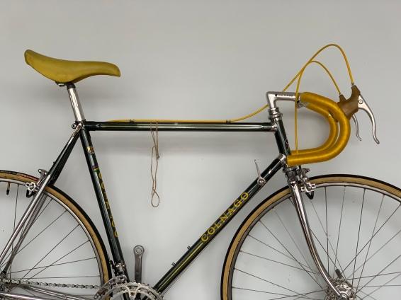 Pascals ganzer Stolz! Sein restauriertes Colnago Rennrad! Das gute Stück ist unverkäuflich - hat er mir verraten! Ich kann ihn da sehr gut verstehen.