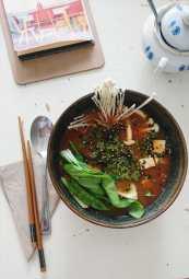 Eine hübsch anzusehende sowie leckere Eigenkreation von Michelle der traditionellen Ramen-Nudelgerichte aus Japan!
